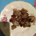 Жареное маринованое мясо козы (козлика)
