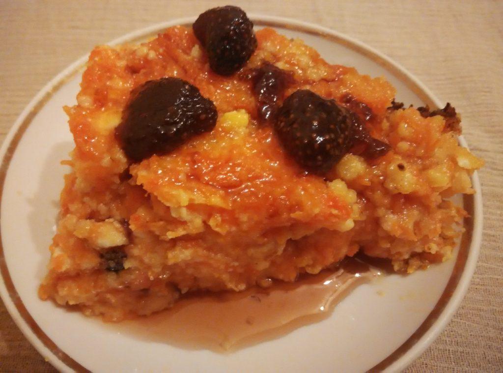 Фото рецепта - Пудинг из тыквы с творогом - шаг 9