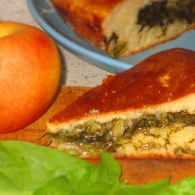 Сладкий пирог со щавелем - рецепт с фото