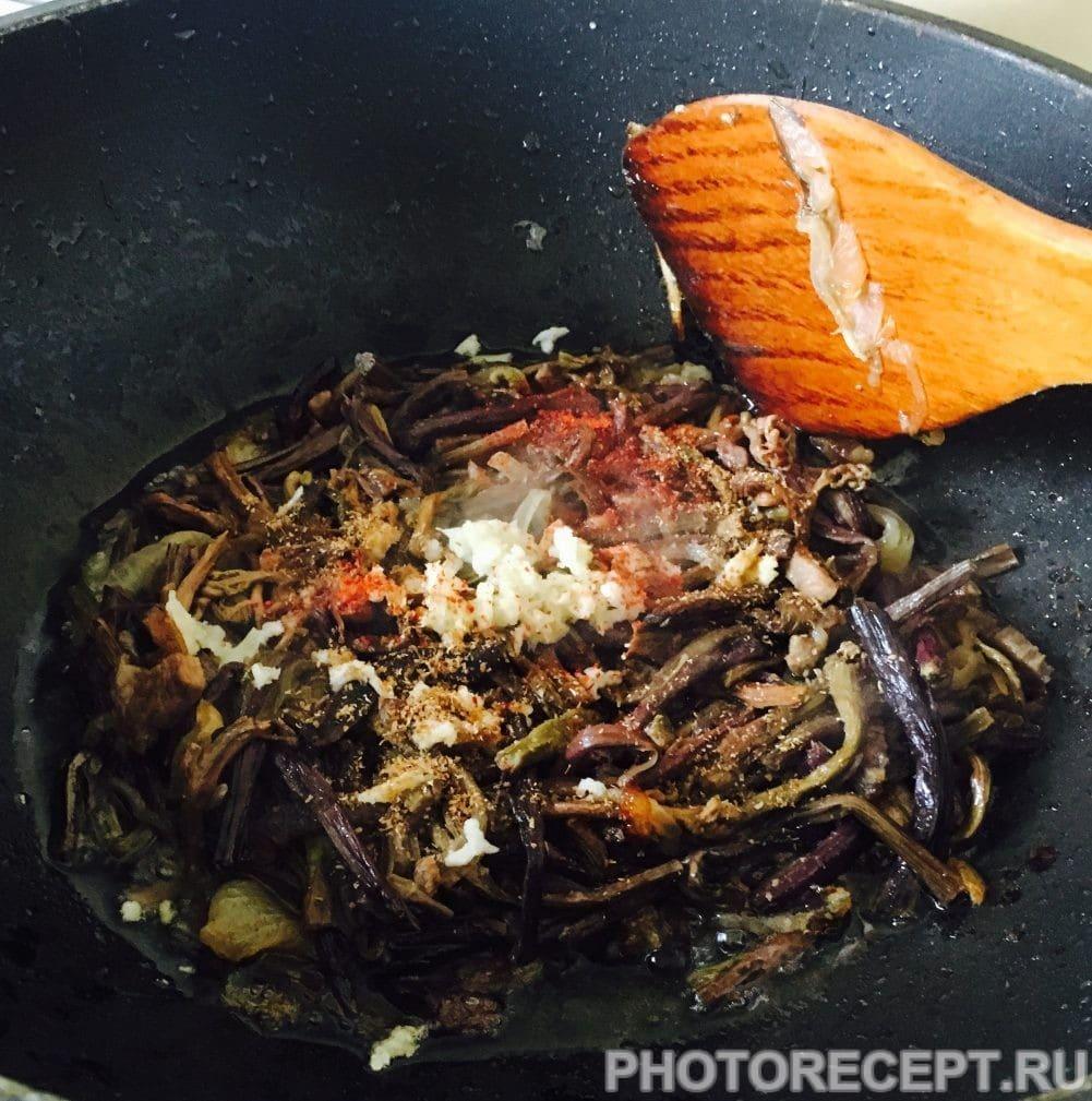 Фото рецепта - Папоротник с мясом по-корейски (Косарича) - шаг 5