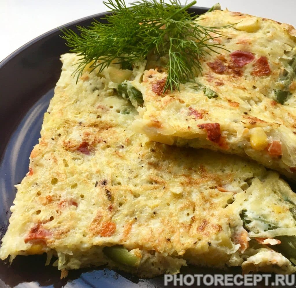 Фото рецепта - Картофельная супер-запеканка с овощами на сковороде - шаг 8