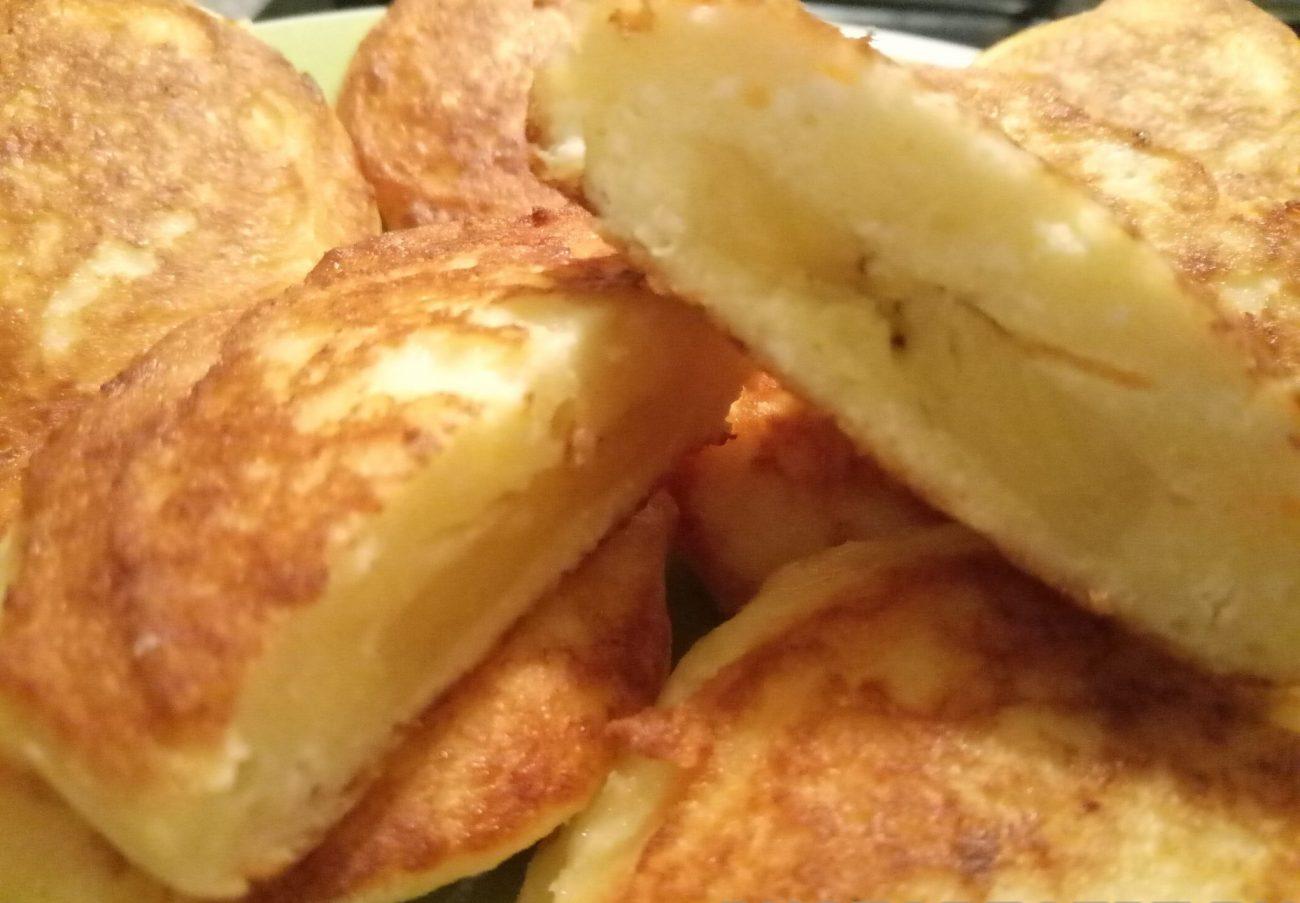 Пышные сырники с бананом без сахара и муки