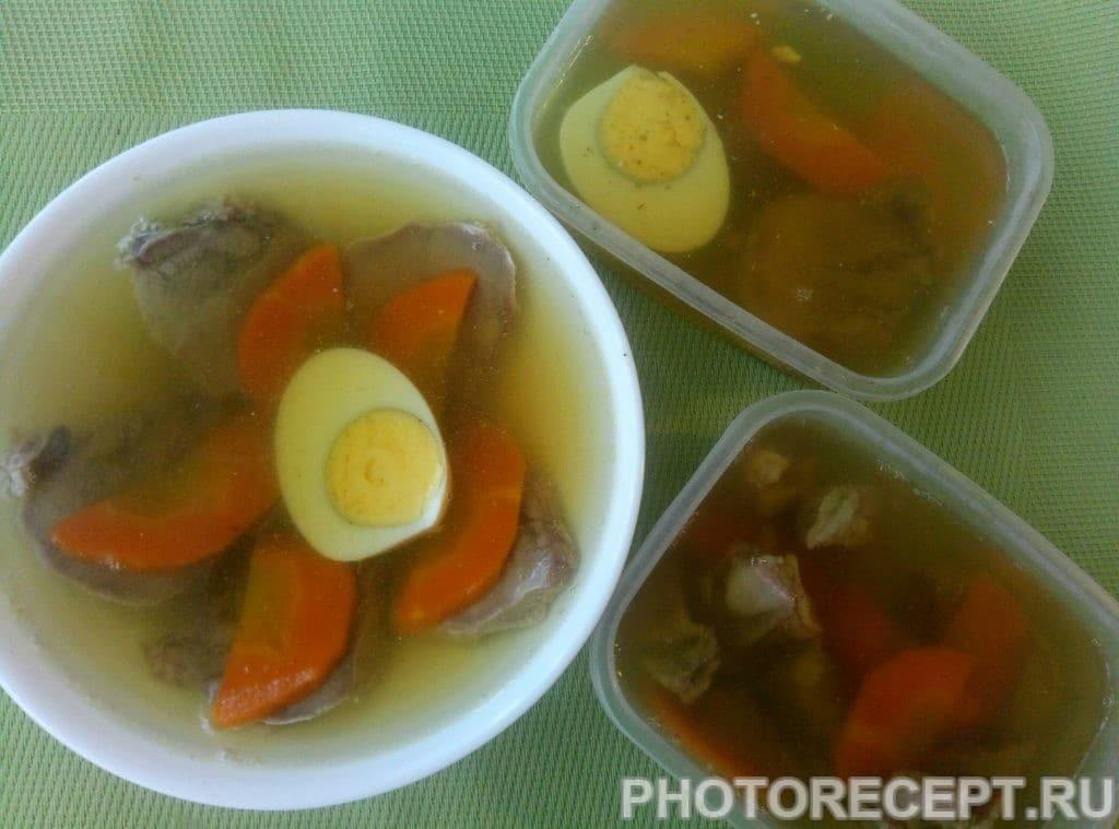 Фото рецепта - Заливное из языка на овощном бульоне - шаг 5