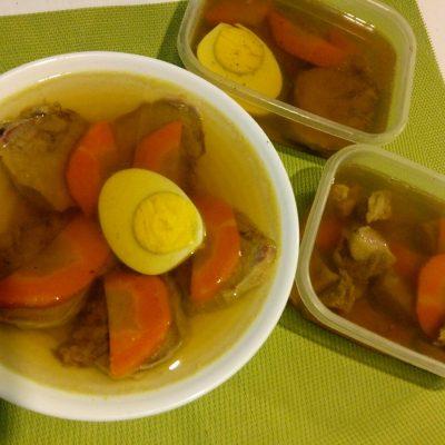Фото рецепта - Заливное из языка на овощном бульоне - шаг 6