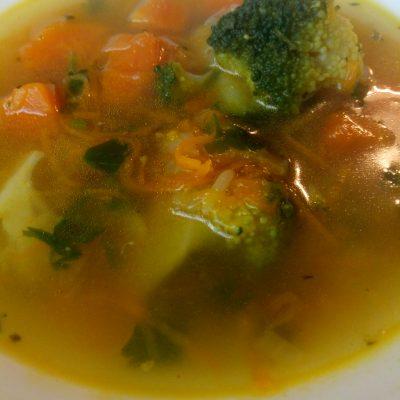 Фото рецепта - Суп с рисом, брокколи и тыквой - шаг 6