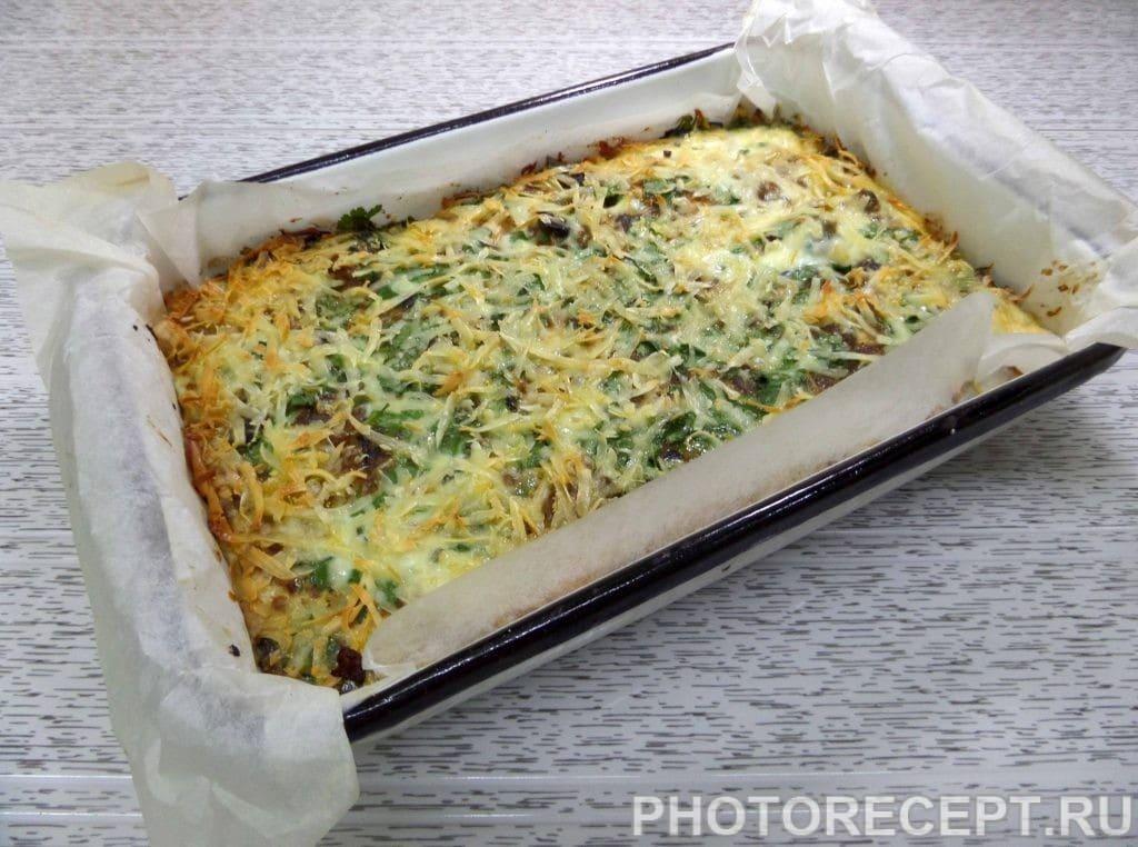 Фото рецепта - Капуста с курицей и грибами в духовке - шаг 16
