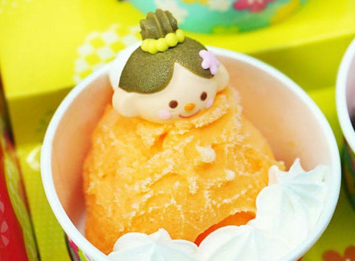 Апельсиновое сорбет-мороженое