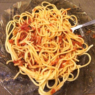 """Спагетти """"Болоньезе"""" для вегетарианцев - рецепт с фото"""