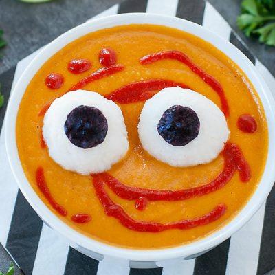 Картофельный суп-пюре с морковью и рисом - рецепт с фото
