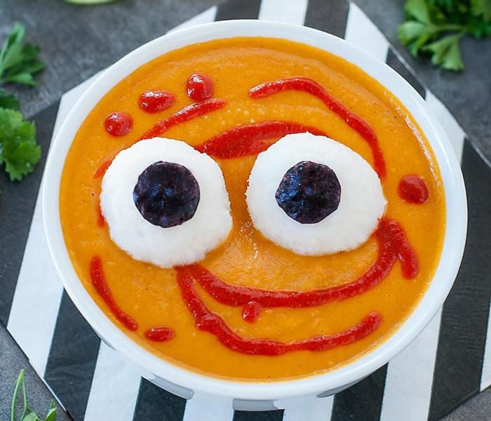 Картофельный суп-пюре с морковью и рисом