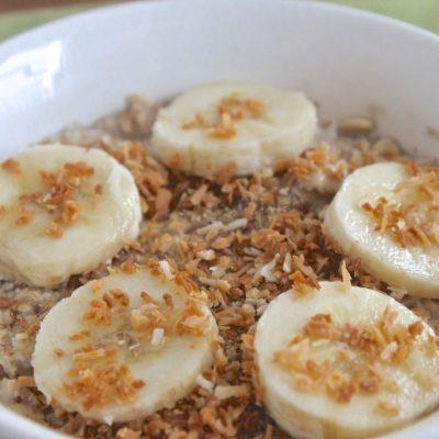 Молочная каша из полбы с бананом - рецепт с фото