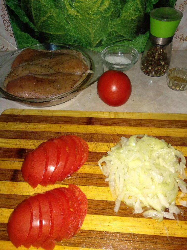 """Фото рецепта - """"Куриные кармашки"""" или фаршированное куриное филе - шаг 4"""