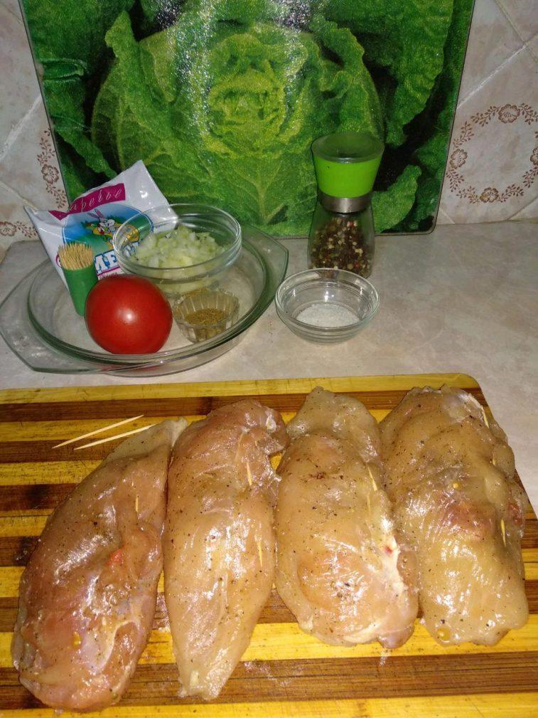 """Фото рецепта - """"Куриные кармашки"""" или фаршированное куриное филе - шаг 5"""