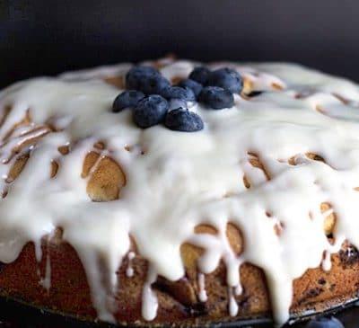 Пирог «Чудный» с черникой, в микроволновой печи - рецепт с фото