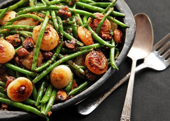 Постная закуска-гарнир из овощей и шампиньонов