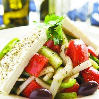 Салат простой, греческий - рецепт с фото