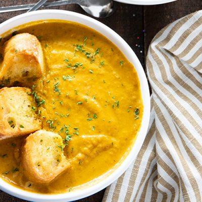 Суп-пюре из тыквы в мультиварке - рецепт с фото