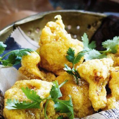 Вегетарианская закуска-гарнир из жареной цветной капусты - рецепт с фото