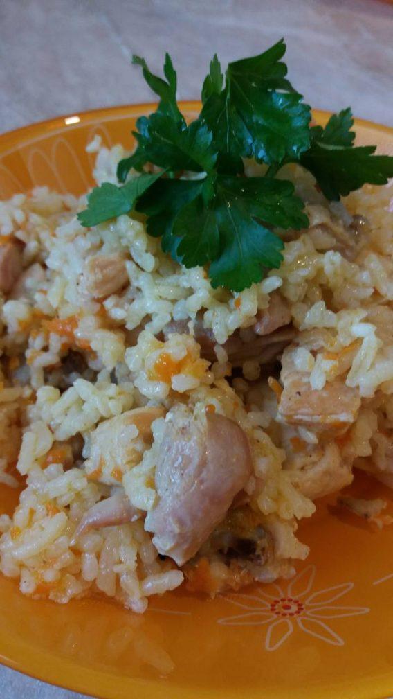 Фото рецепта - Плов с курицей в жаровне - шаг 5