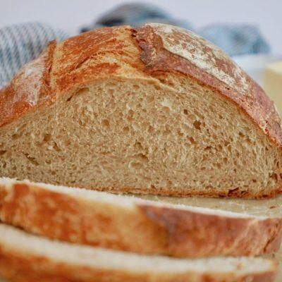 Хлеб из пшеничной муки - рецепт с фото