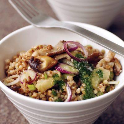 Запеченные грибы с гречкой по-монастырски - рецепт с фото