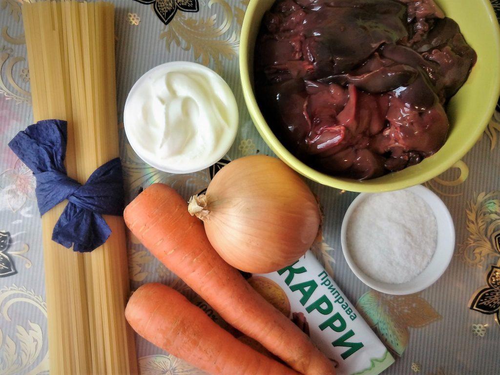 Фото рецепта - Паста с куриной печенью - шаг 1