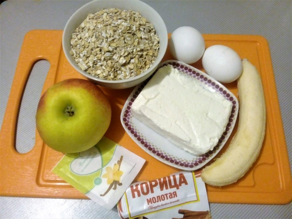Фото рецепта - Овсяная коврижка с яблоками и бананом - шаг 1