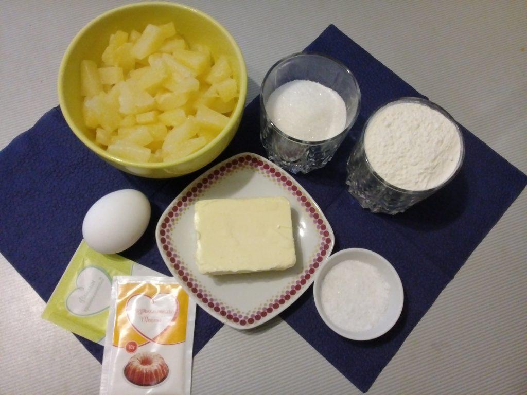 Фото рецепта - Пирог с консервированными ананасами - шаг 1