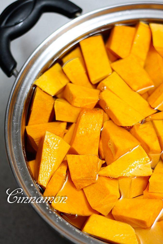 Фото рецепта - Тыквенный сок с апельсином - шаг 1