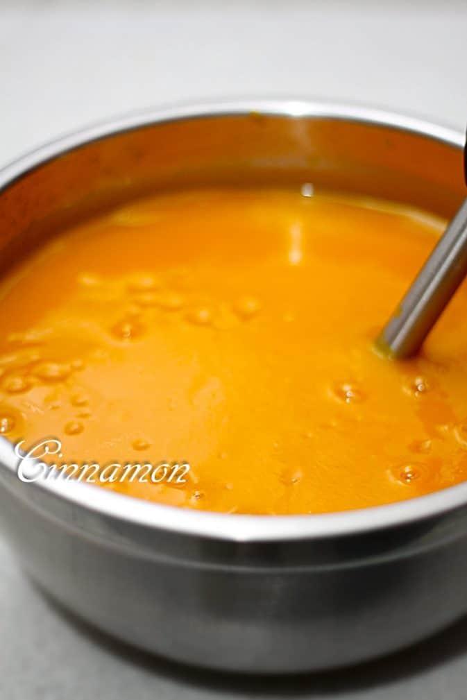 Фото рецепта - Тыквенный сок с апельсином - шаг 4