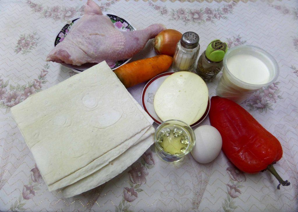 Фото рецепта - Курица в лаваше - шаг 1