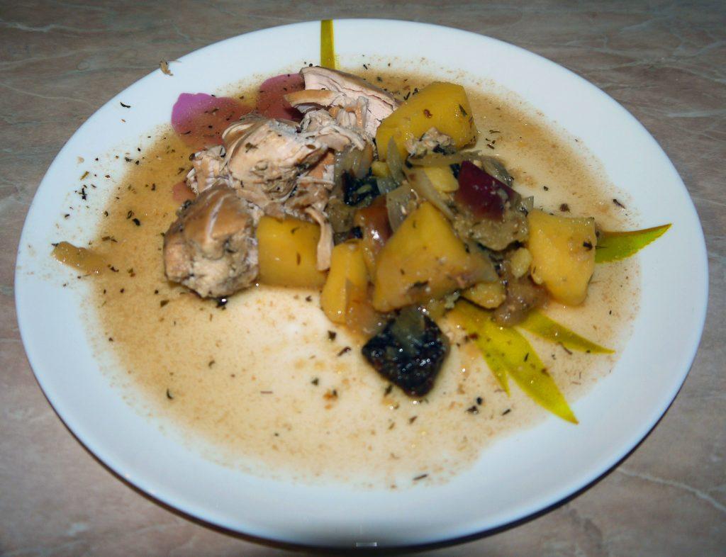 Фото рецепта - Курица с яблоками - шаг 7