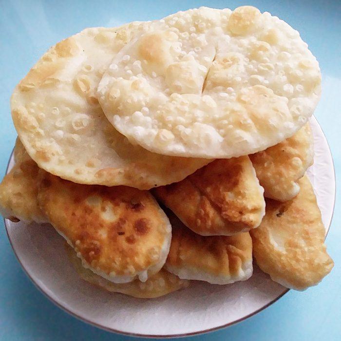 Жареные пирожки с картошкой по-казахски