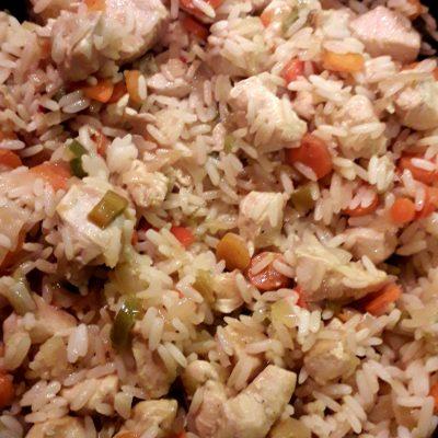Фото рецепта - Рис с овощами и курицей - шаг 5