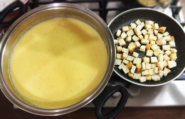 Постный суп-пюре из тыквы
