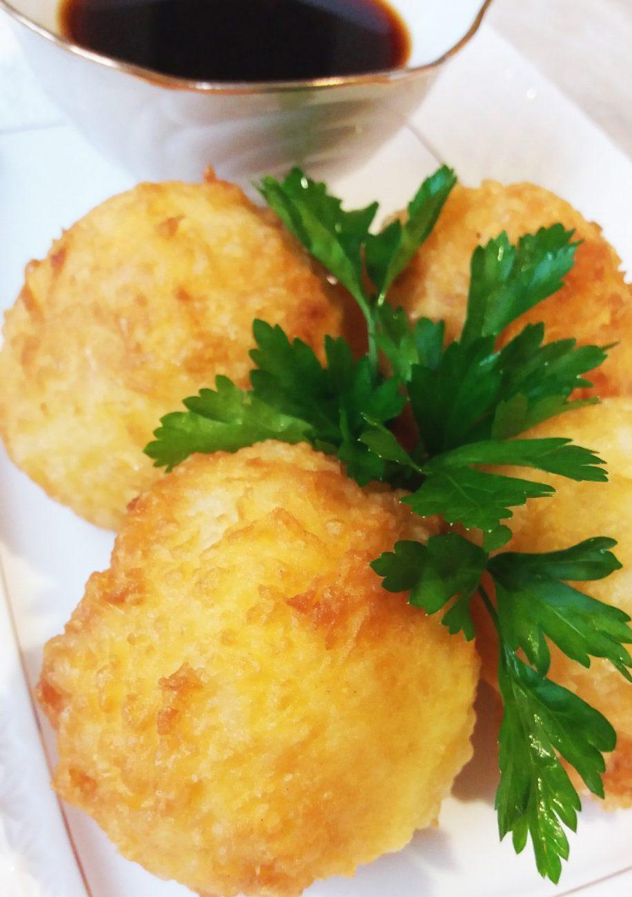Рисовые шарики в сырной корочке
