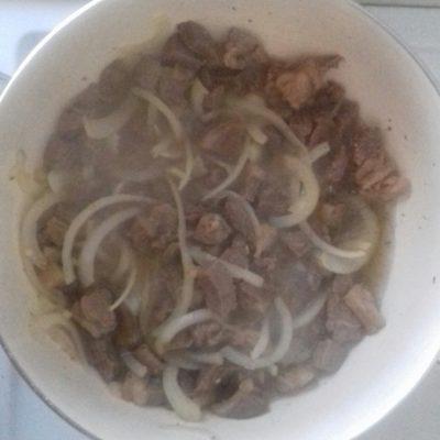 Фото рецепта - Капуста тушеная с мясом - шаг 4