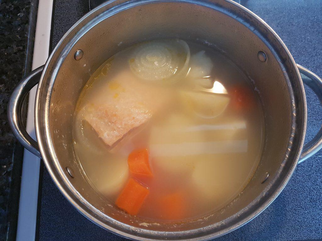 Фото рецепта - Крем-суп из лосося - шаг 2