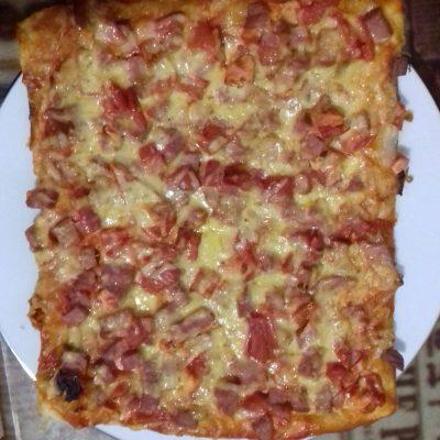 Фото рецепта - Домашняя пицца в духовке - шаг 6