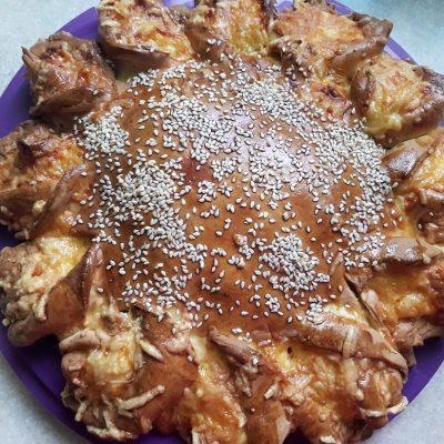 Мясной пирог с сыром и фаршем - рецепт с фото