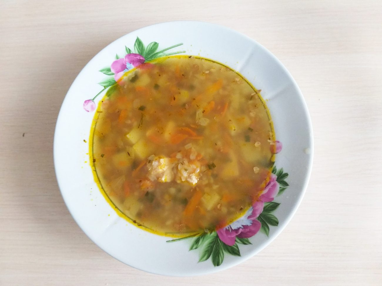 Гречневый суп с поджаркой