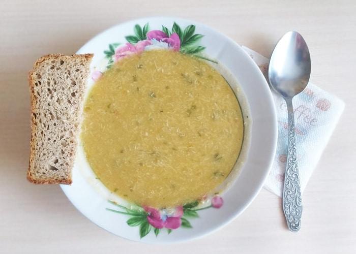 Чечевичный суп-пюре с курицей