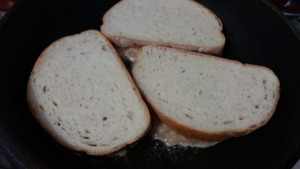 Фото рецепта - Закусочные горячие бутерброды с фаршем индейки и картофелем - шаг 4