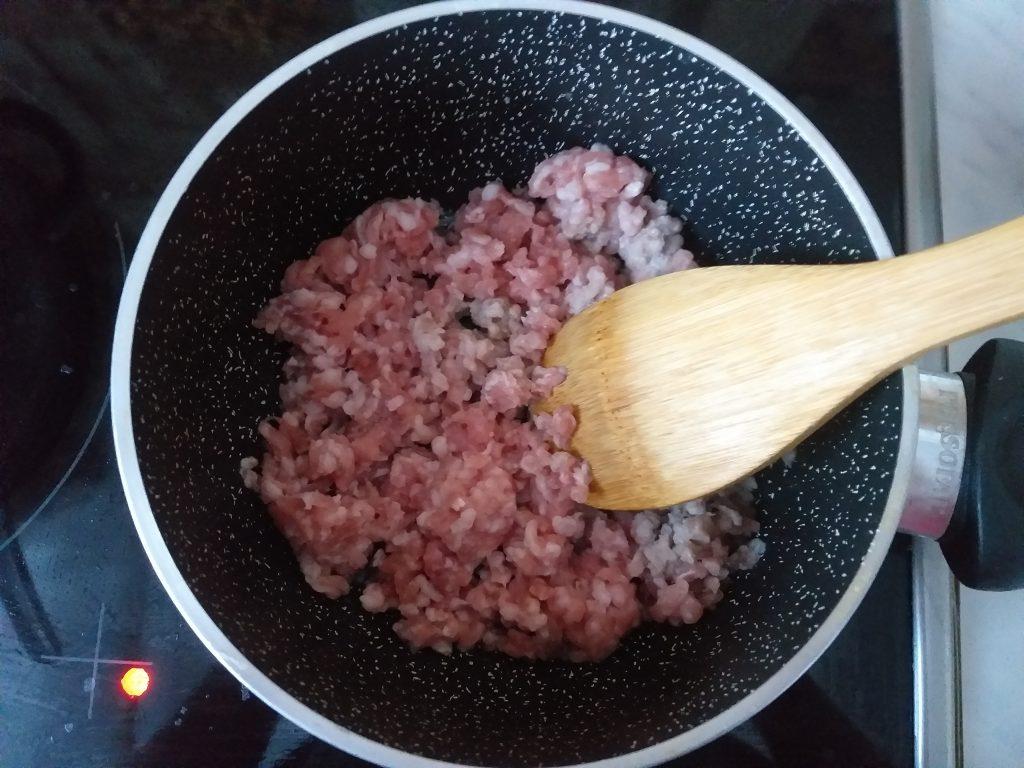 Фото рецепта - Овощное рагу с баклажанами и свиным фаршем - шаг 1