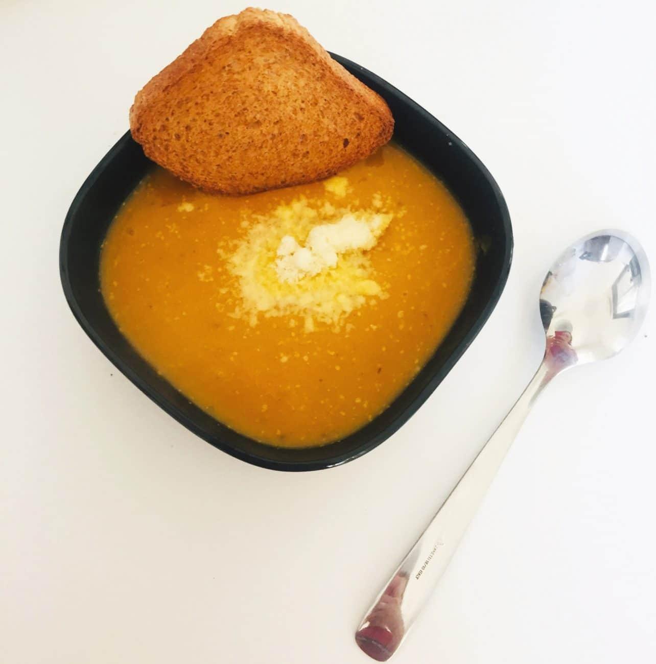 Морковно-тыквенный суп-пюре с карри