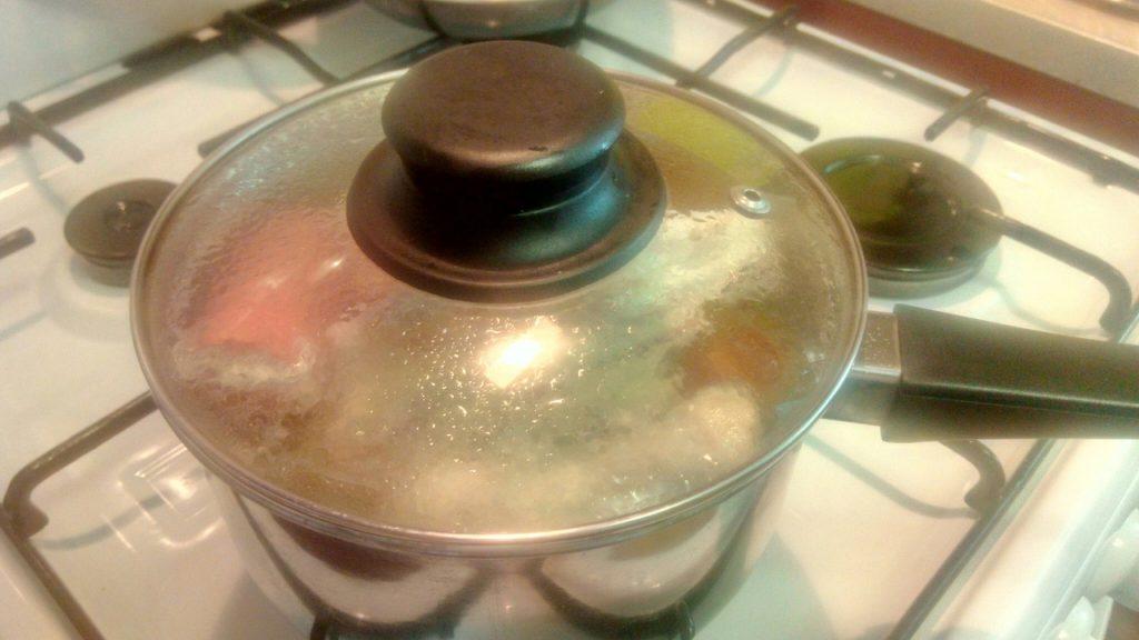 Фото рецепта - Суп-лапша (гнезда) в курином бульоне - шаг 3