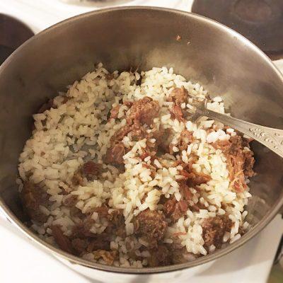 Рис с тушёнкой - рецепт с фото