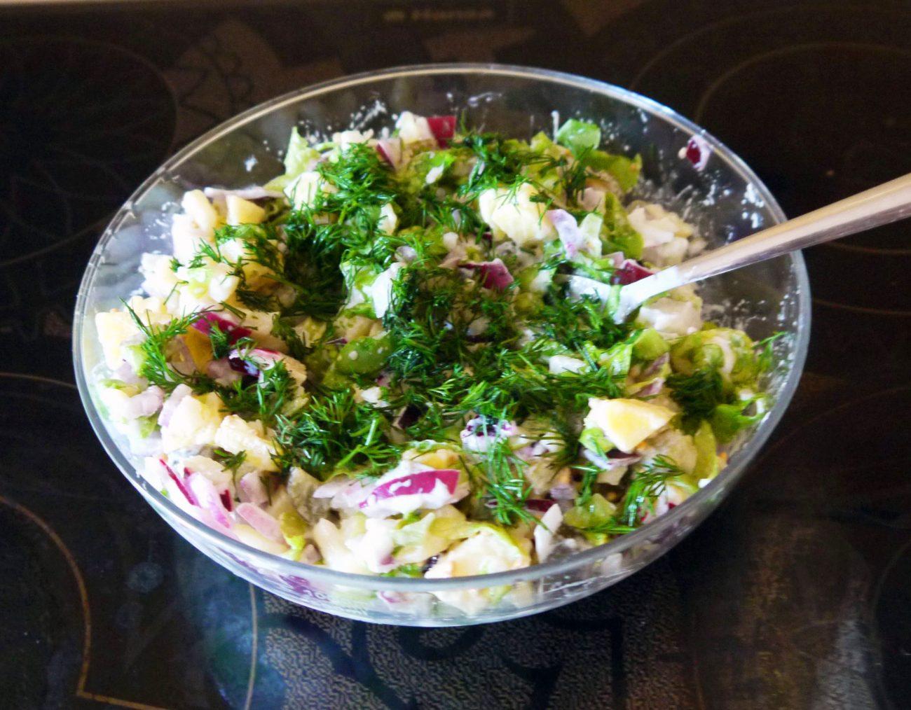 Картофельный салат «Свежесть»