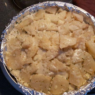 Фото рецепта - Картофель, запечённый в сливочном соусе - шаг 5