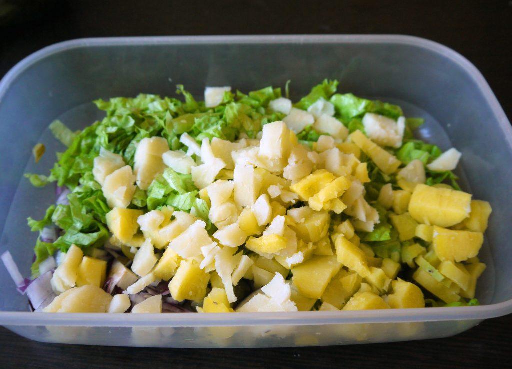 Фото рецепта - Картофельный салат «Свежесть» - шаг 3